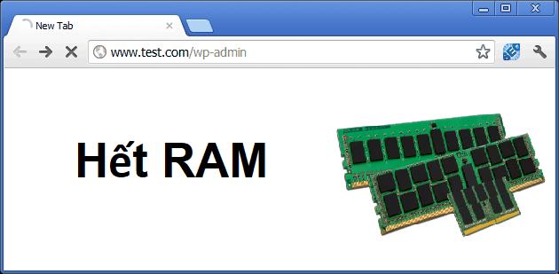 Hướng dẫn kiểm tra & xử lý lỗi website bị trang trắng do hết RAM