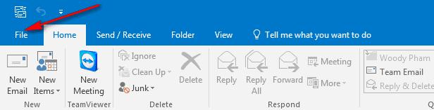 Cấu hình email outlook-b1