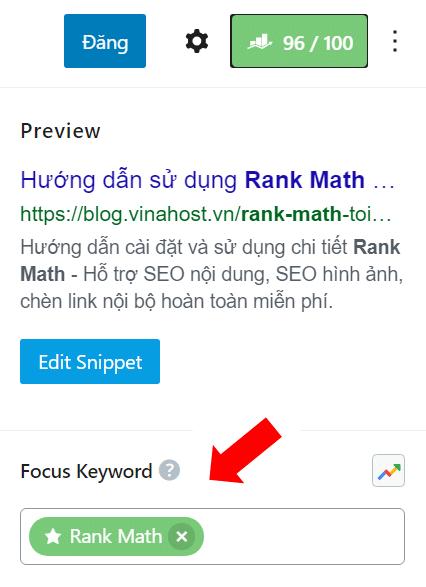 Focus Keyword - Rank Math