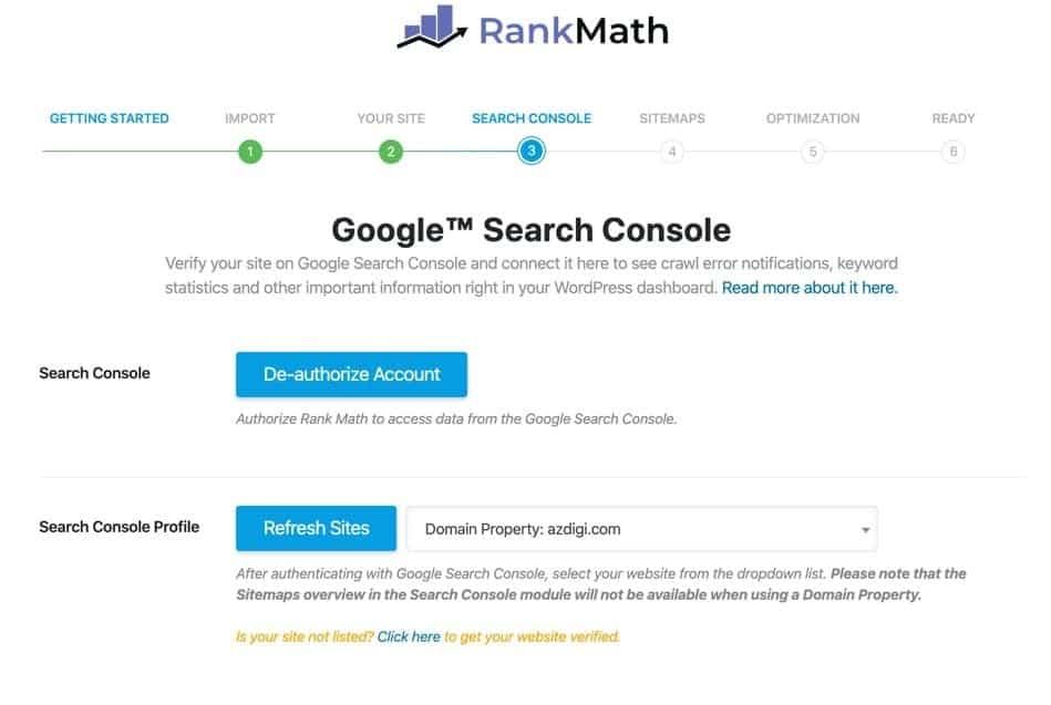 Kết nối Google Search Console