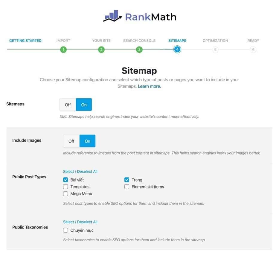 Sitemap-Rank Math