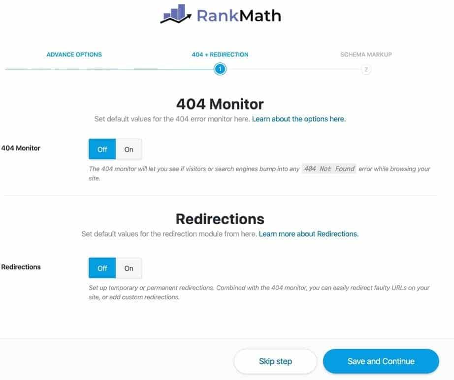 lỗi 404 Rank Math