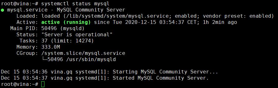 cài đặt MySQL và tối ưu MySQL trên Ubuntu 20.04